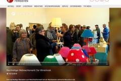 Winterkiosk auf AEG in Nürnberg 2018 Beitrag im Frankenfernsehen